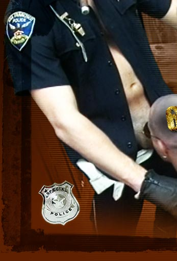 Huge, hairy, hunky cops